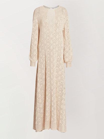 Loren Crochet Maxi Dress Ivory