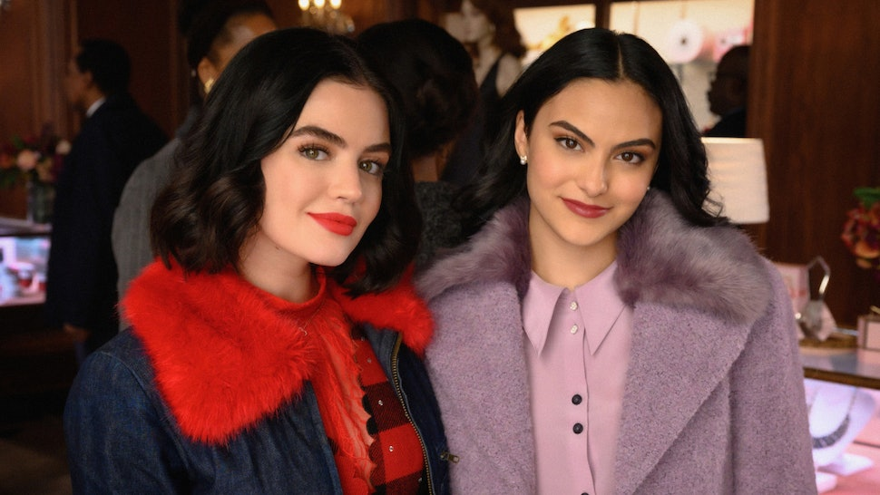 Lucy Hale as Katy Keene and Camila Mendes as Veronica on Riverdale