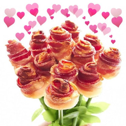 Bacon Addicts has a bouquet of bacon you can get for Valentine's Day.