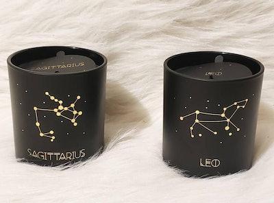 Astrological Glass Jar Candle