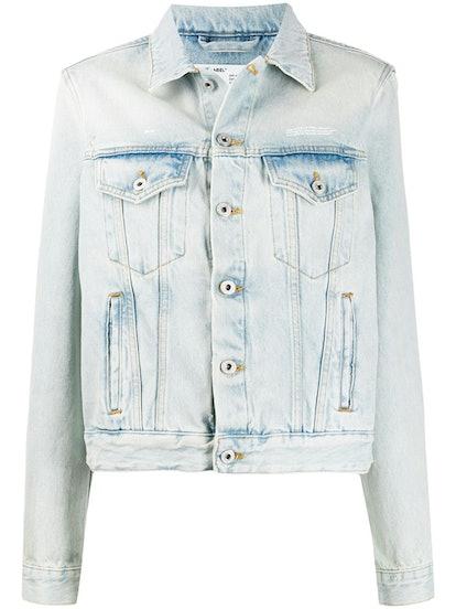 Bleached Boxy Denim Jacket
