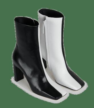 Isa Boot Black White Mix