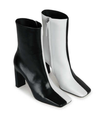 Isa Boot Black White Mix