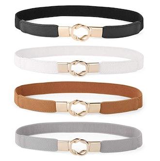 WERFORU Skinny Belt for Dresses