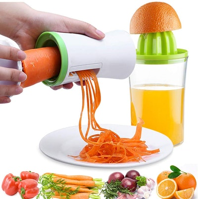 Handheld Vegetable Spiralizer And Manual Juicer By YOUDO