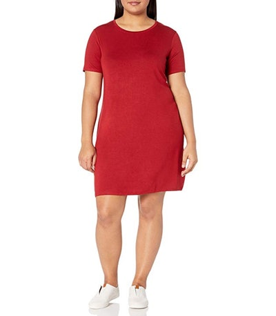 Daily Ritual Women's Plus Size Jersey T-Shirt Dress
