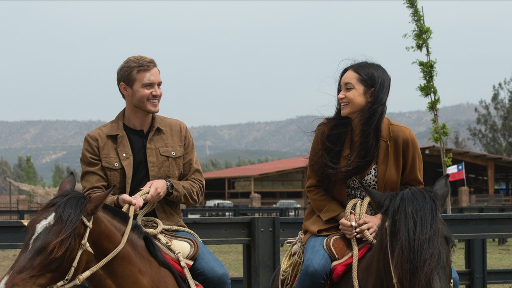 Victoria F. and Peter on a date on 'The Bachelor'