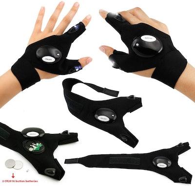 Oct17 LED Flashlight Cycling Gloves