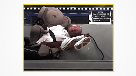 Video of Evenflo's booster seat crash tests obtained as part of a ProPublica investigation have spar...
