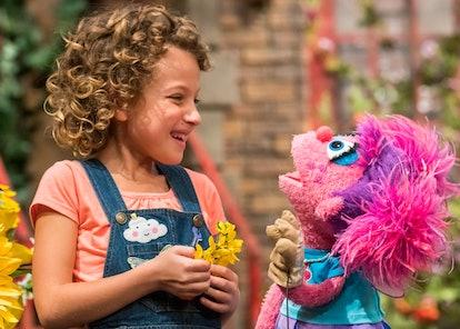 Charlie makes friends on 'Sesame Street'