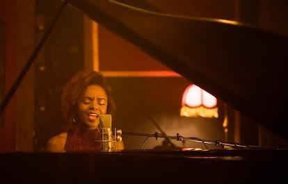 Josie recording at New York City's Electric Lady studio in Katy Keene.