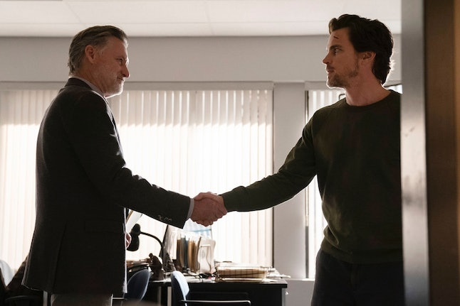 Bill Pullman as Detective Lt. Harry Ambrose and Matt Bomer as Jamie Burns in The Sinner Season 3