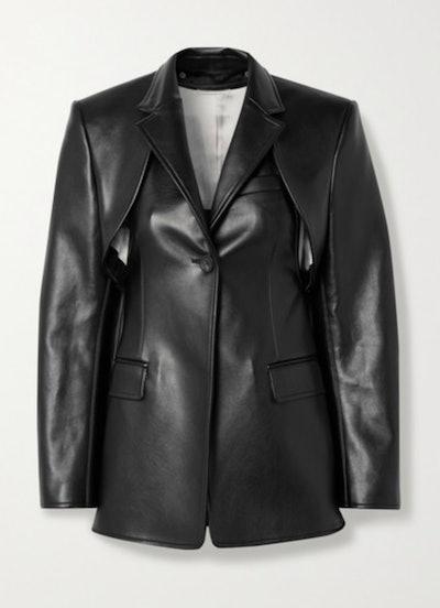 Convertible Leather Blazer