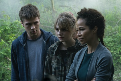 Connor Jessup, Emilia Jones, and Sherri Saum in 'Locke & Key' on Netflix