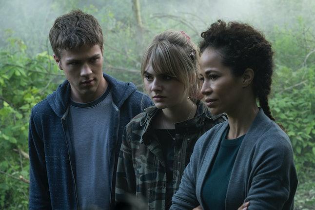 Connor Jessup, Emilia Jones, and Sherri Saum in 'Locke & Key' on Netflix