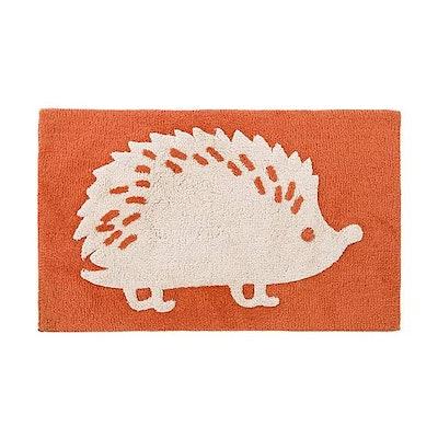 Orange Hedgehog Bath Mat