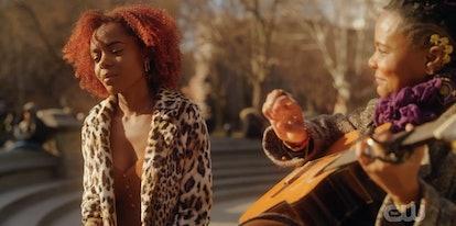 Josie singing in Washington Square Park on 'Katy Keene'