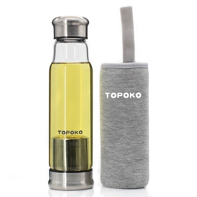 Topoko Glass Infuser Water Bottle (18.5 Oz)