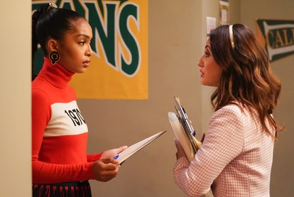 Zoey & Ana talked about Luca while registering classmates to vote on 'grown-ish.'