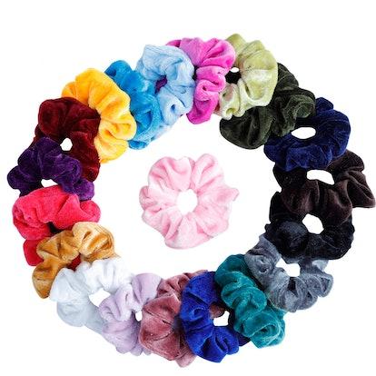 Mandydov Velvet Hair Scrunchies (20-Pack)