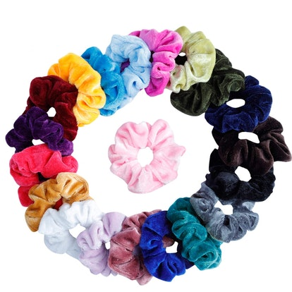 Mandydov Velvet Hair Scrunchies (20-Pack)
