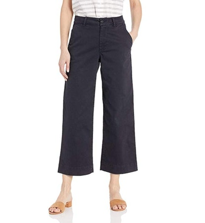 Daily Ritual Women's Washed Chino Wide Leg Pant