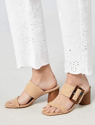 find. Women's Large Buckle Block Heel Sandal
