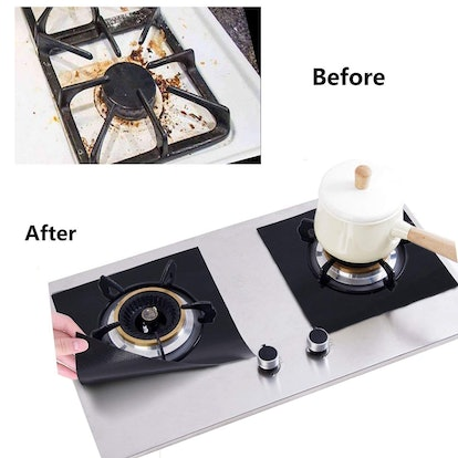 FORLIVE Reusable Gas Stove Burner Covers (10-Pack)