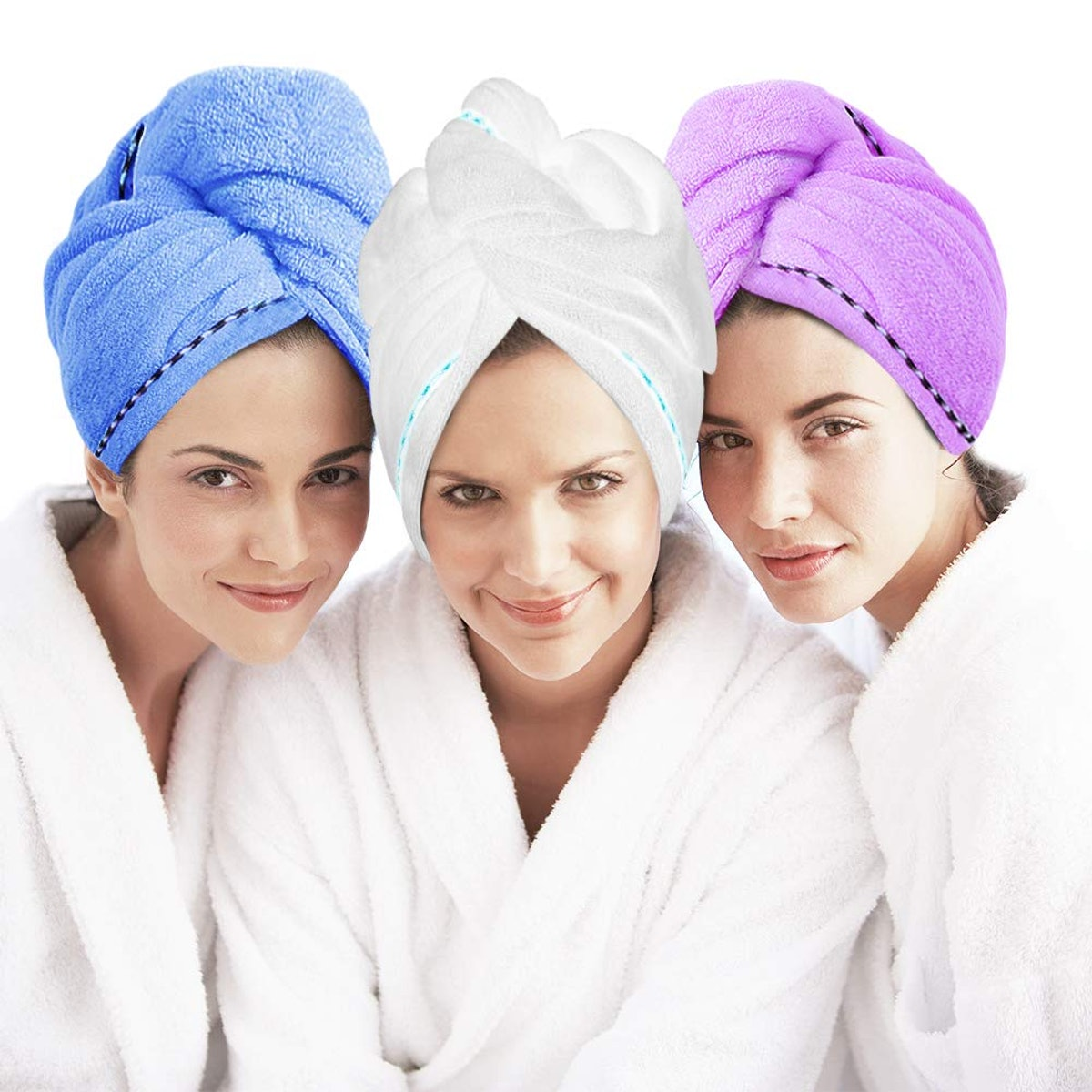 Laluztop Anti-Frizz Absorbent Hair Towel