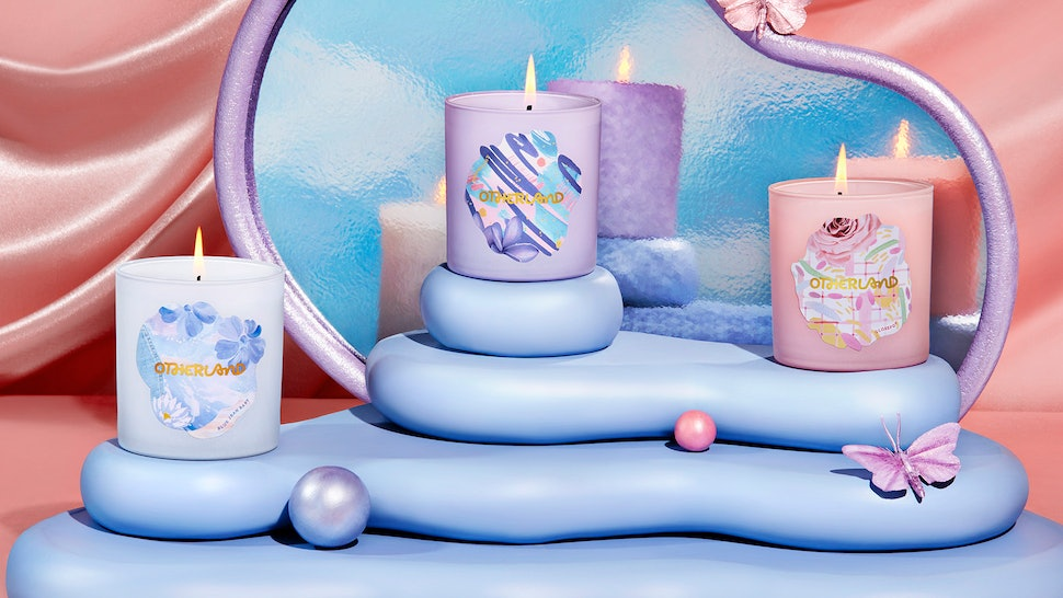 Otherland's nostalgic Carefree 90s Candle Collection has scents like Blue Jean Baby and Glosspop.