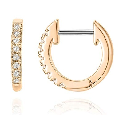 PAVOI 14K Gold Plated Cubic Zirconia Earrings
