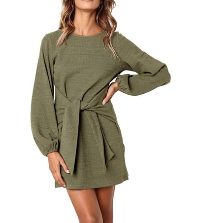 R.Vivimos Women's Tie Waist Sweater Dress