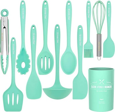 Umite Chef Colorful Silicone Kitchen Utensils With Holder