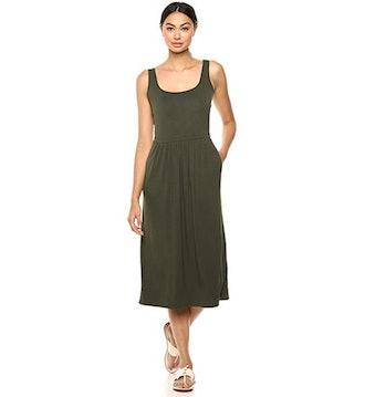Daily Ritual Women's Jersey Empire-Waist Midi Dress