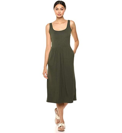 Daily Ritual Women's Jersey Empire-Waist Midi Dress