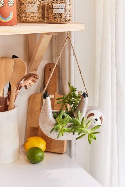 Sloth Hanging Planter