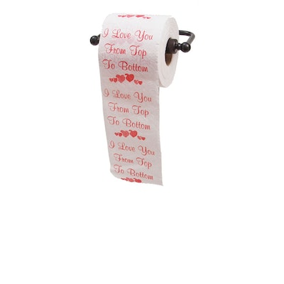 I Love you From Top to Bottom Printed Toilet Paper