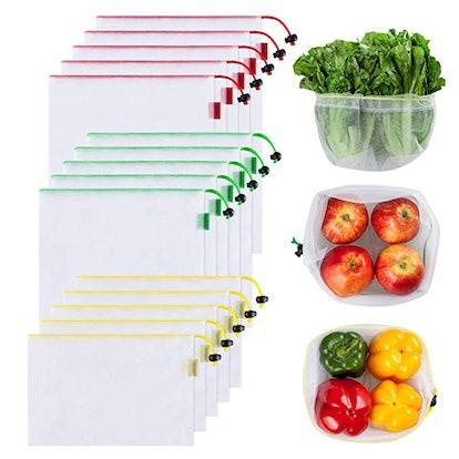 Ecowaare Reusable Mesh Produce Bags (15-Pack)