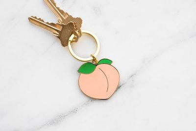 Peach Enamel Keychain