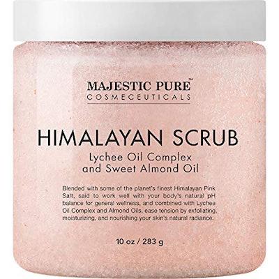 Majestic Pure Himalayan Salt Body Scrub with Lychee Oil