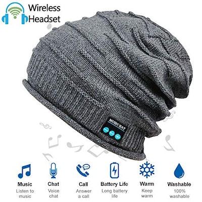 HighTechLife Wireless Bluetooth Beanie Hat with Headphones V4.2
