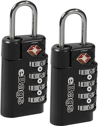 EBags TSA-Approved 4-Dial Combination Lock (2-Pack)