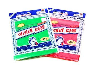 Gold Firm 8Pcs Asian Exfoliating Bath Washcloth