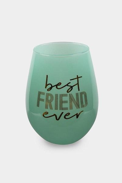 Best Friend Ever Wine Glass