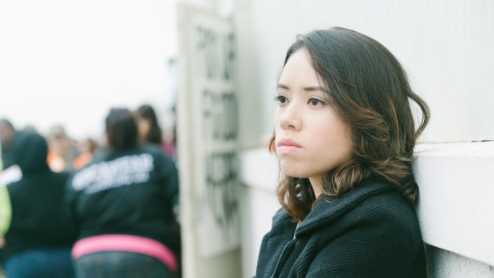 Young woman having worst Mercury retrograde