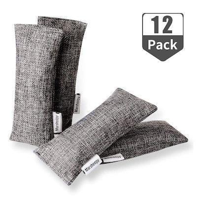 Marsheepy Natural Air Purifying Bamboo Charcoal Bags (12-Pack)