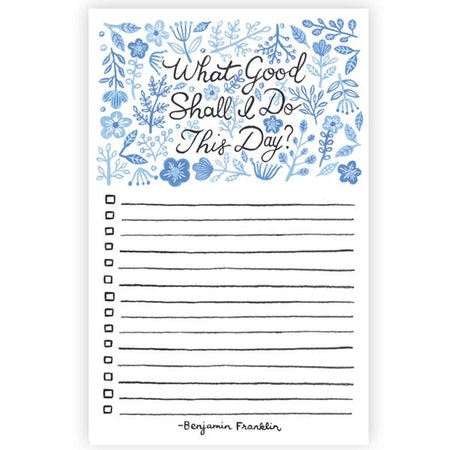 What Good Shall I Do This Day? Notepad
