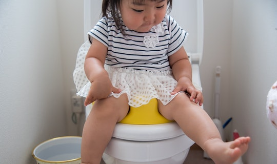 a little girl on the potty