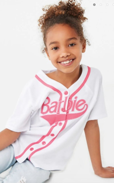 Girls Barbie™ Baseball Jersey (Kids)