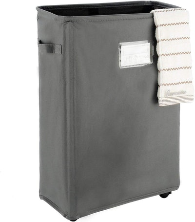 Caroeas 22-Inch Slim Rolling Laundry Basket